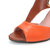 Women Plus Size Color Splicing Peep Toe Casual Summer Heeled Sandals