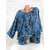 Plus Size Leaf Print Long Sleeve Casual Blouse