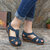LOSTISY Women Wedges Shoes Splicing Casual Comfy Sandals