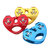 25KN Outdoor Double Axis Double Pulley Rock Climbing Cross Strop Cable Pulley Aerial Work Emergency Rescue Pulley