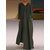 Women Casual O-Neck Long Sleeve Pockets Hooded Dress