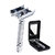 BAILI BD179 Barber Safety Blade Razor Manual Shaver Double Edge Butterfly Twist Open T-Shaped Unisex 1 Travel Case with Mirror