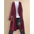 Ethnic Print Patchwork Frog Button Long Sleeve Hooded Plus Size Cardigans