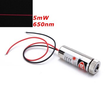 Diode de générateur de laser de module de ligne rouge focalisable de 650nm 5mW