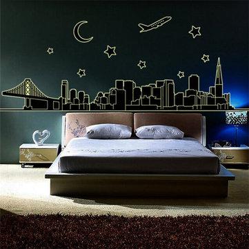 Night View Wall Stickers Art Fluorescence Night Glow Mural Decal Wall Decor