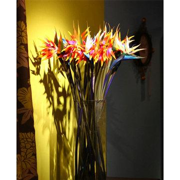 31 Inch Simulación Paradiesvogel Artificial Bird Of Paradise Flower Home Desk Ventana Deco