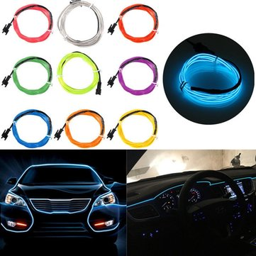 1M USB Flexible EL Wire Neon LED Strip Light Glow Rope Tube Party Decoration with Inverter 5V