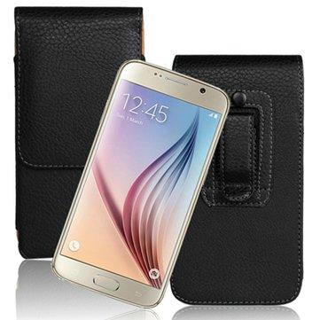 Litchi Grain Waist Hanging Leather Case For Samsung Galaxy S6 G9200