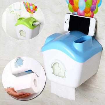 Toilet Roll Pemegang Kertas Kotak Kertas Kreatif Dengan Rak Ponsel