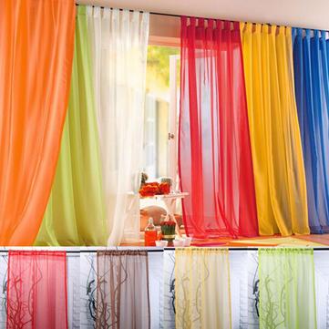 100x200cm tul color puro cortina de ventana dormitorio balcón pantalla de la ventana escarpada suave