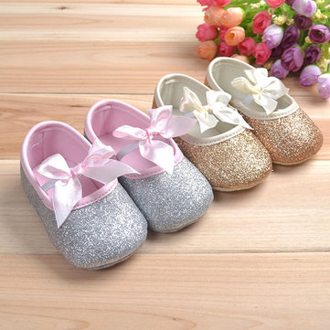 How can I buy Baby Toddler Shine Ribbon Antislip Soft Sole Shoes with Bitcoin