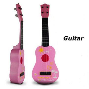 Cabritos de los niños de la guitarra de simulación de juguetes educativos 4 cuerdas acústicas instrumentos musicales de desarrollo