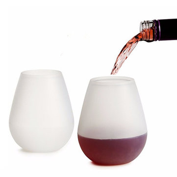 Silicone Wine Cups Foldable Beer Glasses Unbreakable Glasses Non Slip Stoup