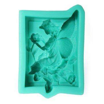 3D Silicona Ángel ala flor pastel molde Jabón molde creativo cocina accesorios para hornear