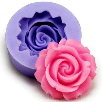 Molde de Pasta de Pastel de Rosa de Silicona de Decoración Utensilio para Hornear