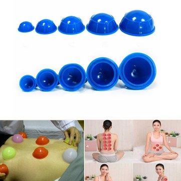 12 Cái Cup Cao su Massage Thư giãn Hút Cupping Trị liệu Đặt
