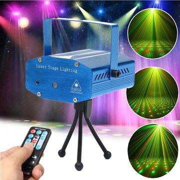 Mini- r & g auto / commande vocale LED projecteur de lumière d'étape de laser avec télécommande pour Xmas Party KTV discothèque