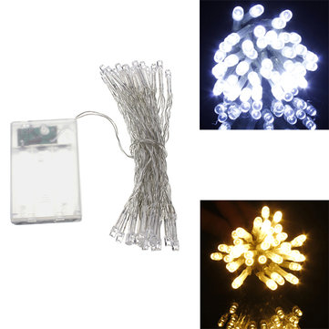 AA Battery Mini 30 LEDs Cool/Warm White Christmas String Fairy Lights