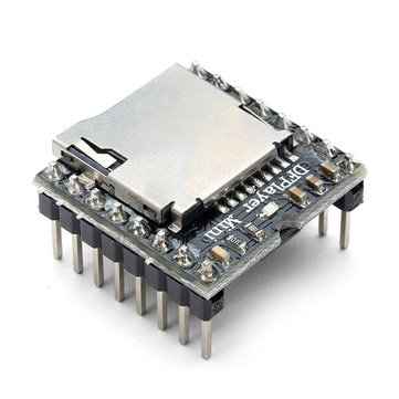 5Pcs Geekcreit® DFPlayer Mini MP3 Player Module MP3 Voice Audio Decoder Board For Arduino Supporting TF Card U-Disk IO/Serial Port/AD