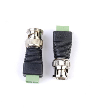 2pcs Coax CAT5 BNC Video Balun Connector for Security Camera System