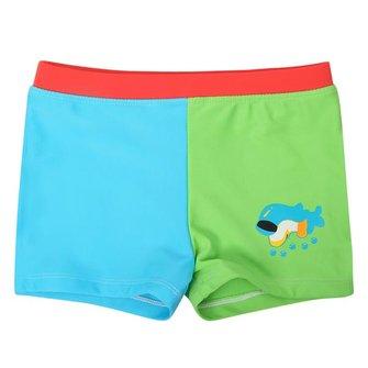 Baby Boys Kid Dolphin Cartoon Style Blå & Gröna Baddräkter