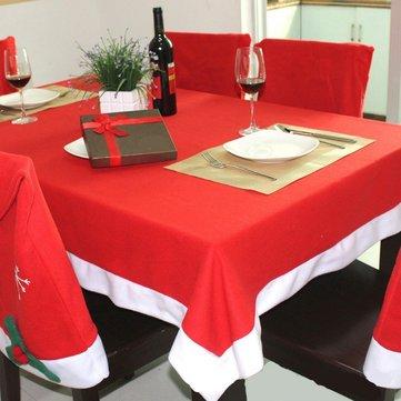 130x180cm Rojo Chirstmas tela no tejida tela de Navidad decoración del partido de la casa de Navidad