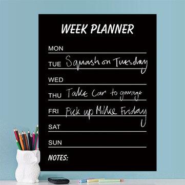 Environmental PVC Teaching Blackboard Removable Chalkboard Stickers Write Week Planner