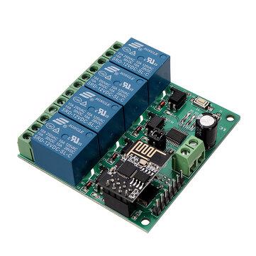 PCB ESP8266 Rơle bốn kênh Wifi IOT Điện thoại thông minh Trang chủ APP Công tắc điều khiển từ xa