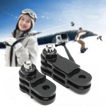 US$2.18 % 2pcs черной длинной и короткой прямой адаптер для совместного Gopro 3 2 1 камера 3 Plus герой 5 4 Аксессуары для фото и видео from Электроника on banggood.com