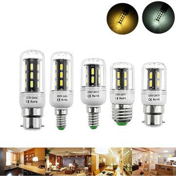E27 E14 B22 4W 5W 6W SMD 7030 Branco branco puro branco LED Lâmpada de lâmpada de milho AC220V