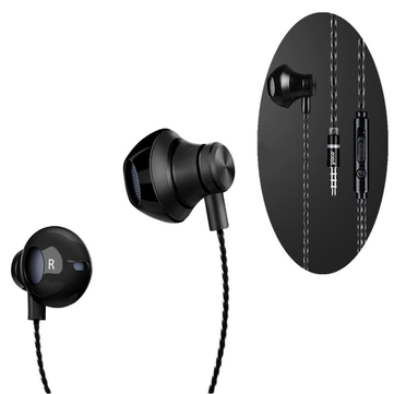 HOCO M18 Noise Cancelling Heavy Bass Wired 3.5mm In-ear Earphone Earbuds with Mic for Xiaomi iPhone