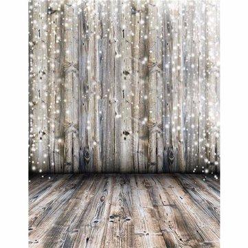 3x5Ft Vinyl Dreamy Grey Wooden Wall Floor Photography Background Backdrop Studio Prop