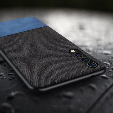 Bakeey Luxury Fabric Splice Soft Silicone Edge Shockproof Protective Case For Xiaomi Mi9 SE