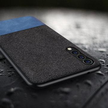 Bakeey luxe tissu épissure Soft cas de protection antichoc de bord de silicone pour Xiaomi Mi9 SE