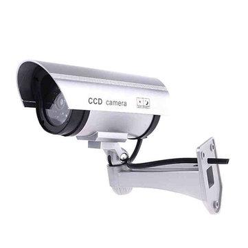 CA-11-01 Dummy Fake Outdooors Waterproof Surveillance CCTV Security Camera Flashing Red Led Light