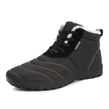 P335 Outdoor Winter Sport Men Women Ankle Boots Lace-up Trekking Worker Fleece Lined Shoes Sneakers