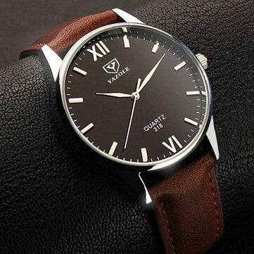 YAZOLE 318メンズウォッチルミナスディスプレイカジュアルスタイルの時計クォーツ時計