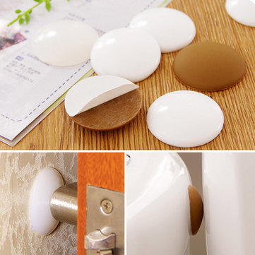Crash Cushions Mute Rubber Door Wall Sticker Thickening Round Doorknob Protective Pad Anti-collision Crash Pad