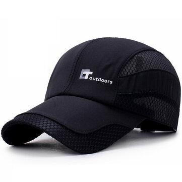 Men Summer Outdoor Quick-drying Breathable Baseball Cap Letters Mesh Adjustable Visor Hat