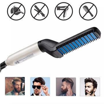 Multi-functional Electric Hair Comb Brush Beard Hair Straightener Heat Styler for Men Beard Straightening Comb Hair
