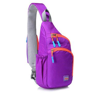 Unisex Men Women Waterproof Nylon Chest Bag Outdoor Sport Crossbody Bag