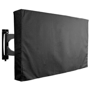 30-32 Inch Black TV Cover Outdooors Patio Wall Mount Flat Protector Waterproof
