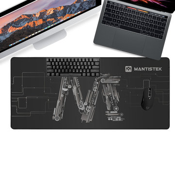 MantisTek® MP1 900*400*3mm Ultra Large Non-Slip Overlock Mouse Pad Desktop Keyboard Pad