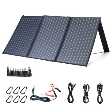 XMUND XD_SP2 100W 18V Solar Panel 3_USB+DC PD Fast Charging Outdoor Waterproof Solar Charger For Camping Travelling Car RV Charger