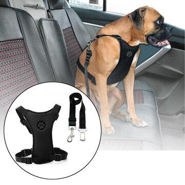 Kích thước L Air Lưới Dog Dây đai an toàn xe có thể điều chỉnh khai thác với Clip chì Pet Du lịch