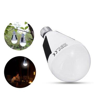 solare Powered E27 12W Bianco Portatile Esterno LED Lampadina di emergenza per giardino campeggio AC85-265V
