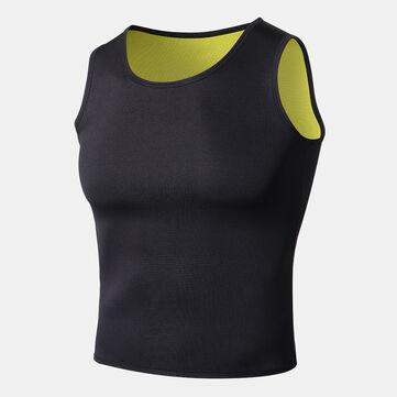 Men's Neoprene Body Shaper Slimming Sweat Trainer Yoga Gym Cincher Vest