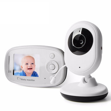 Vvcare VB-820 2.4GHz Wireless Baby Monitor Infant Radio Babysitter Digital Video Camera Sleeping Baby Monitor Night Vision Temperature Display Radio Nanny