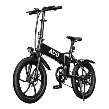 [EU DIRECT] ADO A20 Up To 350W 36V 10.4Ah 20 inch Electric Bike 25km_h Max Speed 80Km Mileage 120Kg Max Load Large Frame Releasable Max Speed Electric Bicycle