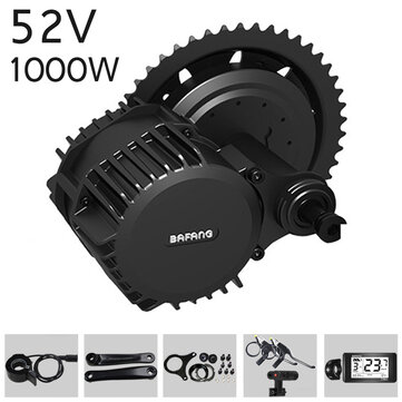 BAFANG BBSHD 52V 1000W Bicycle Modified Electric Mid-drive Motor Kits Set Electric Bicycle Conversion Kits 8fun Motor